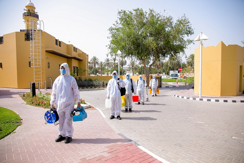 Imdaad extends a helping hand to Dubai Health Authority  by providing disinfection services at Seniors' Happiness Center